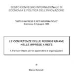 Le competenze delle risorse umane nelle imprese a rete