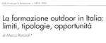 La formazione outdoor in Italia: limiti, tipologie, opportunità